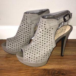 Gray peep toe heels - Size 10 Jessica Simpson
